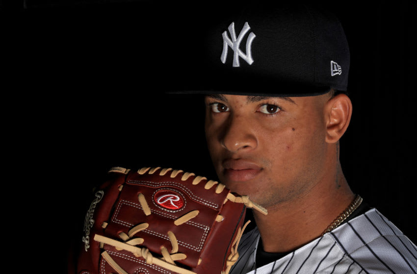 New York Yankees top prospect Luis Gil (Photo by Mike Ehrmann/Getty Images)