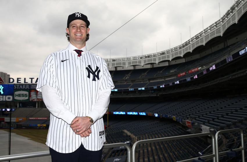 NEW YORK, NEW YORK - DECEMBER 18: Gerrit Cole pose for a photo at Yankee Stadium during a press conference at Yankee Stadium on December 18, 2019 in New York City. (Photo by Mike Stobe/Getty Images)