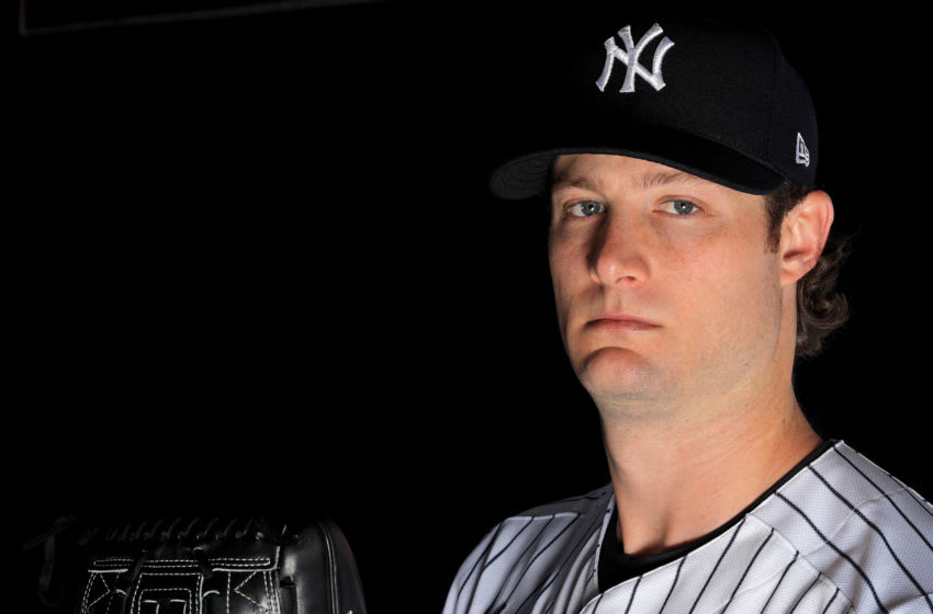 Gerrit Cole #45 of the New York Yankees (Photo by Mike Ehrmann/Getty Images)
