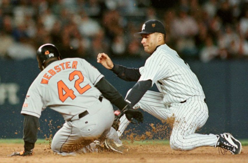 Derek Jeter of the New York Yankees v the Baltimore Orioles (Photo credit: HENNY RAY ABRAMS/AFP via Getty Images)