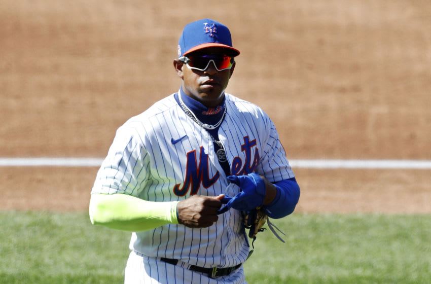 NEW YORK, NEW YORK - JULY 21: (NEW YORK DAILIES OUT) Yoenis Cespedes #52 of the New York Mets in action during an intra squad game at Citi Field on July 21, 2020 in New York City. (Photo by Jim McIsaac/Getty Images)