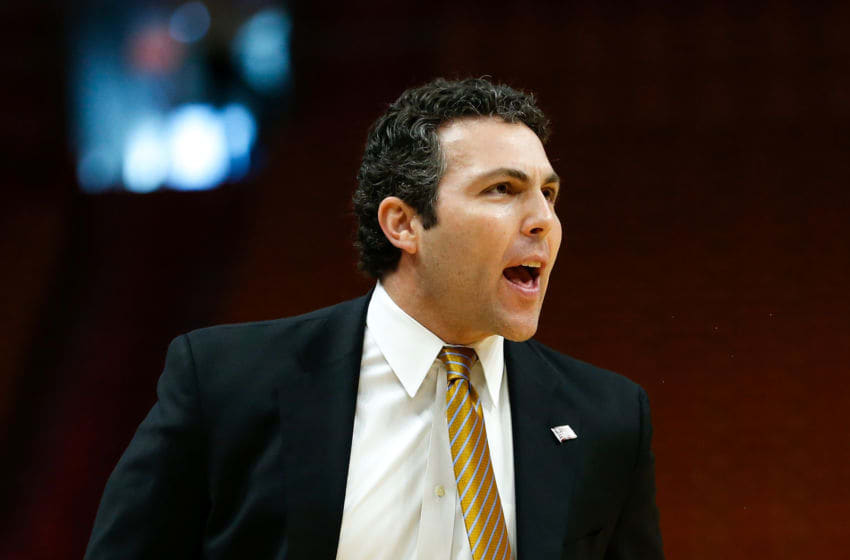 MIAMI, FL - DECEMBER 01: Head coach Josh Pastner of the Georgia Tech Yellow Jackets reacts against the St. John's Red Storm during the HoopHall Miami Invitational at American Airlines Arena on December 1, 2018 in Miami, Florida. (Photo by Michael Reaves/Getty Images)