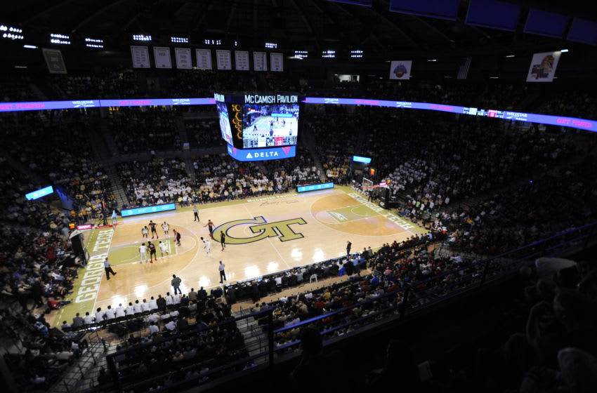 ATLANTA, GEORGIA - JANUARY 19: Overall of the sold out Hank McCamish Pavilion as the Georgia Tech Yellow Jackets take on the Louisville Cardinals on January 19, 2019 in Atlanta, Georgia. (Photo by Logan Riely/Getty Images)