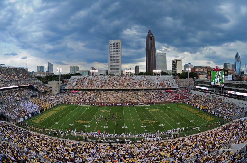 ATLANTA, GA - SEPTEMBER 15: An general view of Bobby Dodd Stadium during the game between the Virginia Cavaliers and the Georgia Tech Yellow Jackets on September 15, 2012 in Atlanta, Georgia. (Photo by Scott Cunningham/Getty Images)