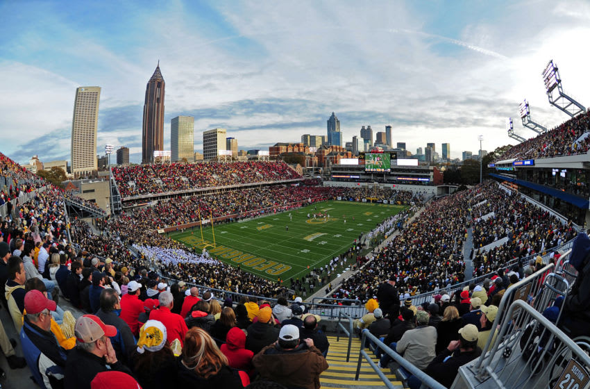 ATLANTA, GA - NOVEMBER 30: A general view of Bobby Dodd Stadium during the game between the Georgia Bulldogs and the Georgia Tech Yellow Jackets on November 30, 2013 in Atlanta, Georgia. (Photo by Scott Cunningham/Getty Images)