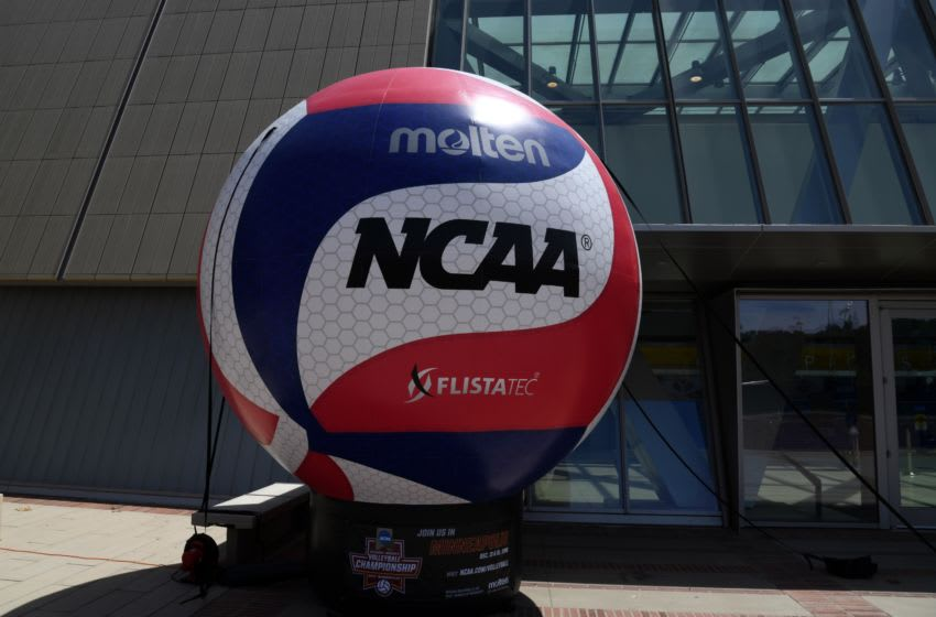 May 5, 2018; Los Angeles, CA, USA; General overall view of an inflatable volleyball outside of Pauley Pavilion during the NCAA Volleyball Championship between the UCLA Bruins and the Long Beach State 49ers. Mandatory Credit: Kirby Lee-USA TODAY Sports