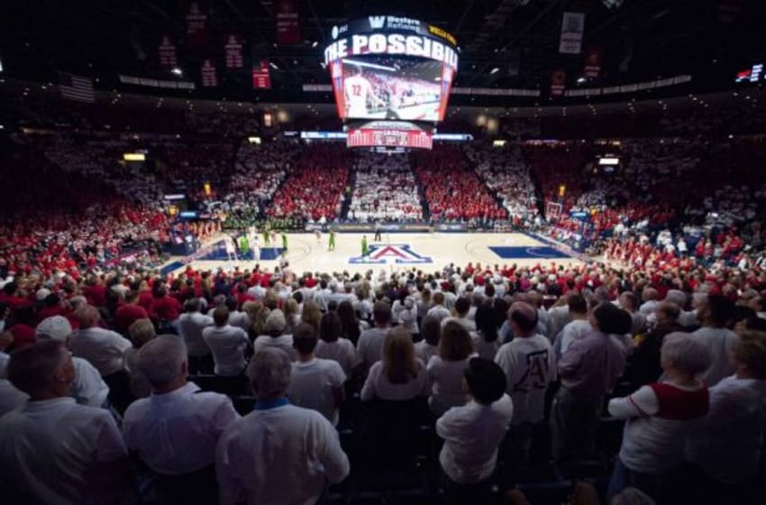 Jan 28, 2016; Tucson, AZ, USA; A general view of McKale Center during the second half of the game between the Arizona Wildcats and the Oregon Ducks. The Ducks won 83-75. Mandatory Credit: Casey Sapio-USA TODAY Sports