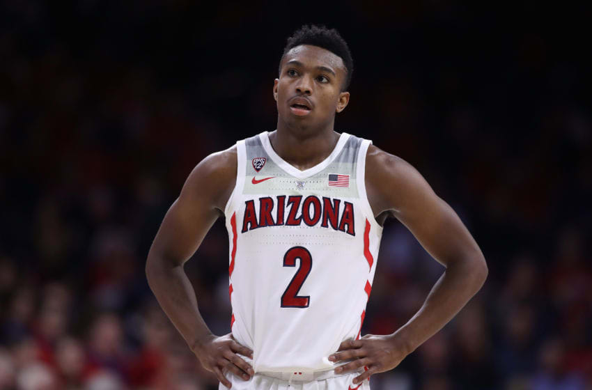 TUCSON, AZ - NOVEMBER 29: Brandon Williams #2 of the Arizona Wildcats during the second half of the college basketball game against the Georgia Southern Eagles at McKale Center on November 29, 2018 in Tucson, Arizona. (Photo by Christian Petersen/Getty Images)