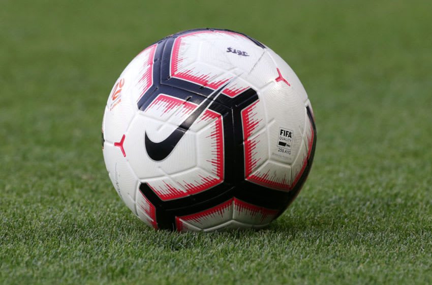 MELBOURNE, AUSTRALIA - JANUARY 12: A nike soccer ball during the round 13 A-League match between the Melbourne Victory and the Newcastle Jets at AAMI Park on January 12, 2019 in Melbourne, Australia. (Photo by George Salpigtidis/Getty Images)
