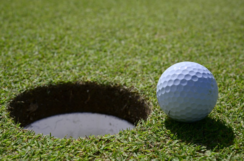 RIO GRANDE, PUERTO RICO - DECEMBER 18: Golfball inches from the cup on the 14th green at the Coco Beach Championship course on December 18, 2019 in Rio Grande, Puerto Rico. (Photo by John McCoy/Getty Images)
