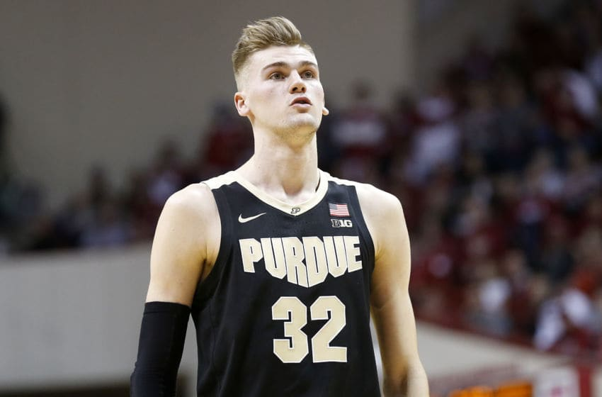 BLOOMINGTON, INDIANA - FEBRUARY 08: Matt Haarms #32 of the Purdue Boilermakers in action in the game against the Indiana Hoosiers at Assembly Hall on February 08, 2020 in Bloomington, Indiana. (Photo by Justin Casterline/Getty Images)
