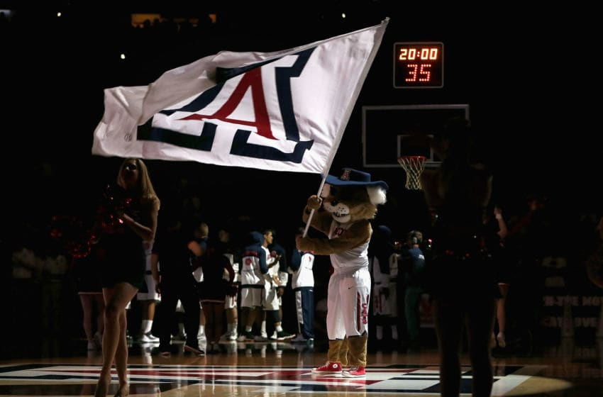 TUCSON, AZ - FEBRUARY 10: The Arizona Wildcats mascot
