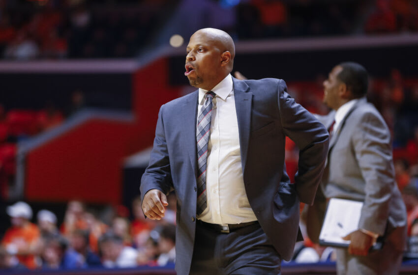 CHAMPAIGN, IL - DECEMBER 06: Head coach Jason Gardner of the IUPUI Jaguars is seen during the game against the Illinois Fighting Illini at State Farm Center on December 6, 2016 in Champaign, Illinois. (Photo by Michael Hickey/Getty Images)