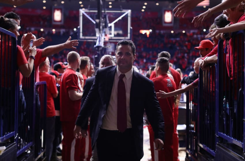 TUCSON, AZ - MARCH 03: Head coach Sean Miller of the Arizona Wildcats walks off the court following the college basketball game against the California Golden Bears at McKale Center on March 3, 2018 in Tucson, Arizona. The Wildcats defeated the Golden Bears 66-54 to win the PAC-12 Championship. (Photo by Christian Petersen/Getty Images)