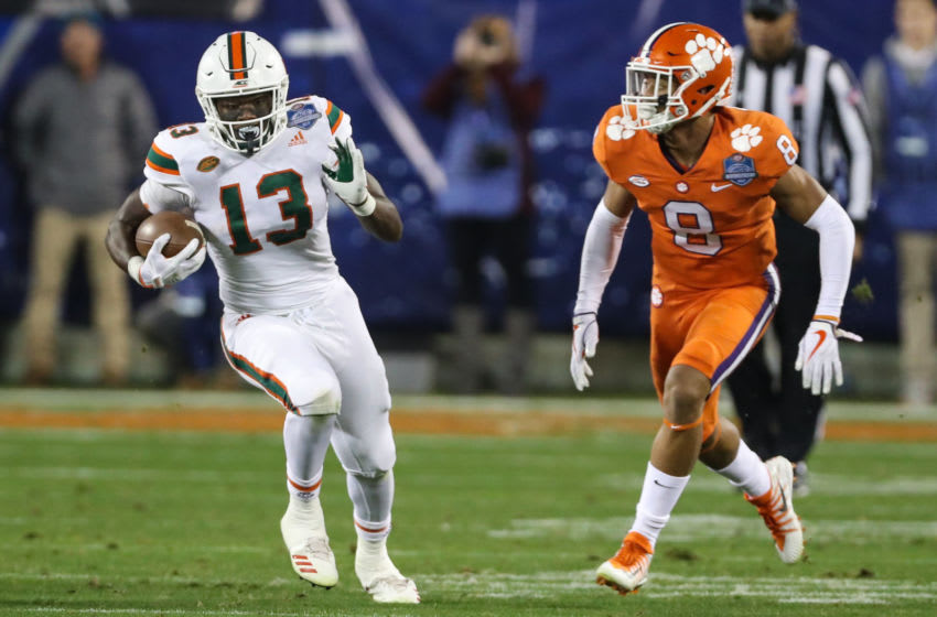 and Clemson Trevor Lawrence versus Miami QB football