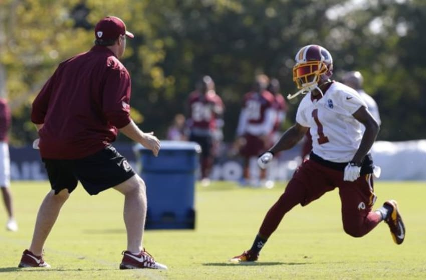 DeSean Jackson leaves Redskins practice with ankle injury