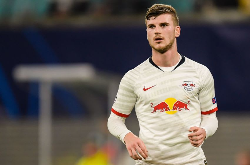 Timo Werner of Red Bull Leipzig during the UEFA Champions League round of 16 second leg match between Red Bull Leipzig and Tottenham Hotspur FC at the Red Bull Arena on March 10, 2020 in Leipzig, Germany(Photo by ANP Sport via Getty Images)