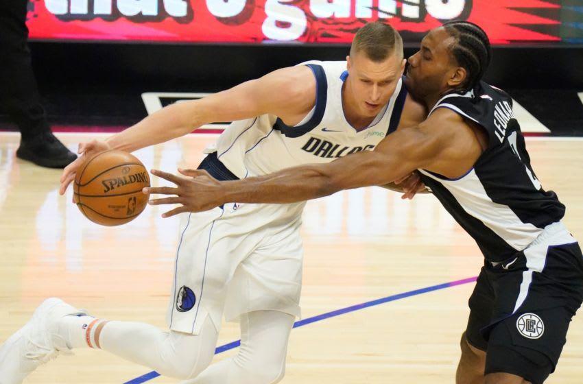 Mavericks forward Kristaps Porzingis. (Robert Hanashiro-USA TODAY Sports)