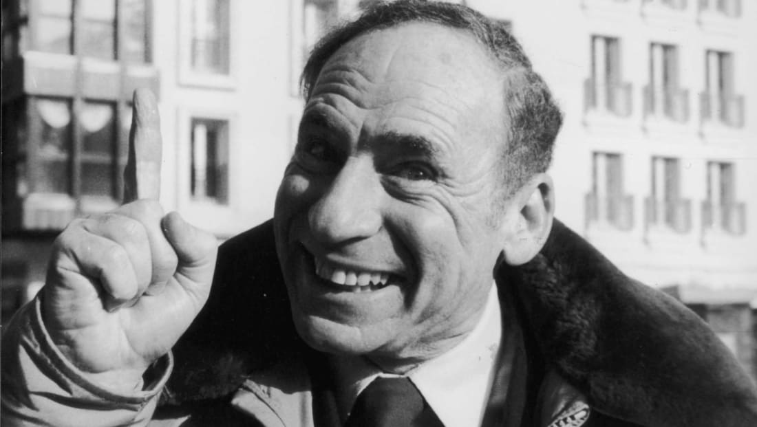 Mel Brooks in 1982 in Paris for the premiere of History of the World, Part 1.