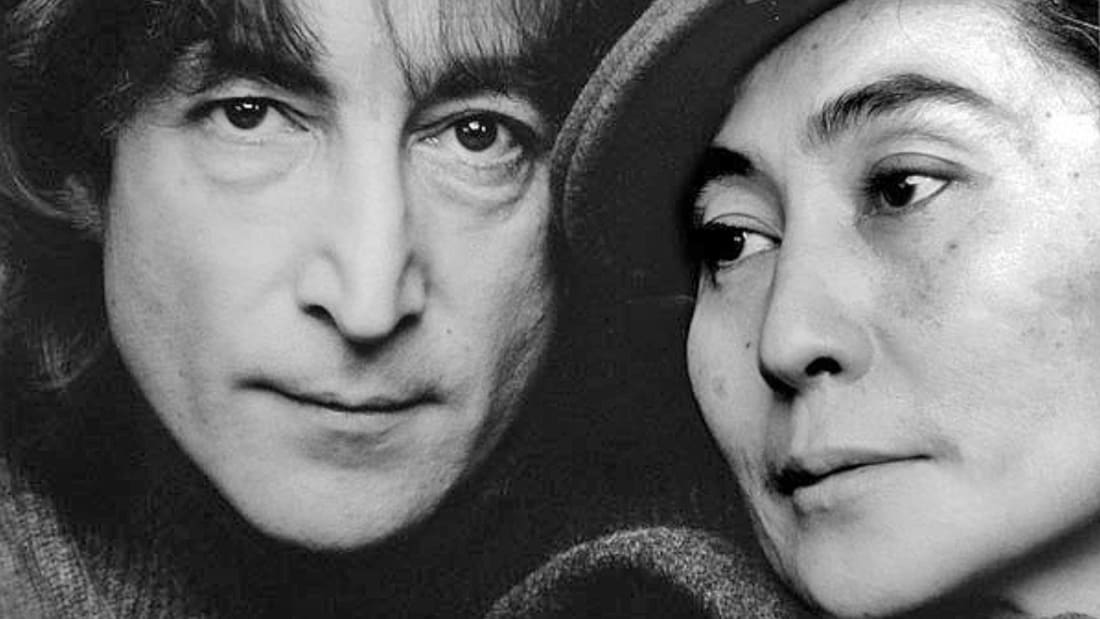 John Lennon and Yoko Ono, photographed in 1980.