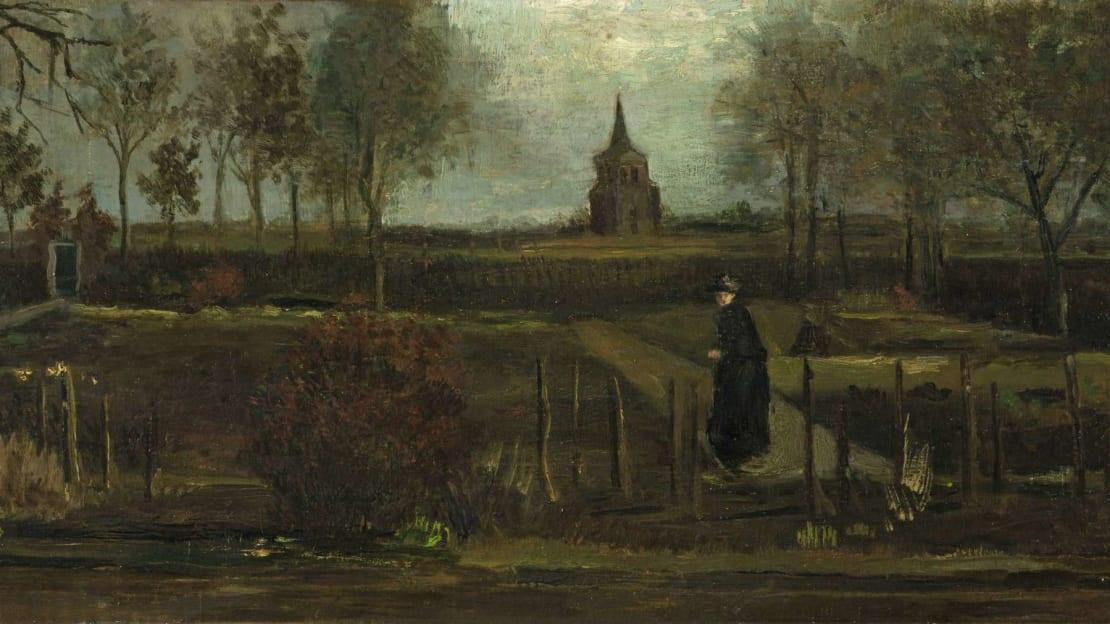 The Parsonage Garden at Nuenen or Spring Garden by Vincent van Gogh, stolen from the Singer Laren museum in March 2020.