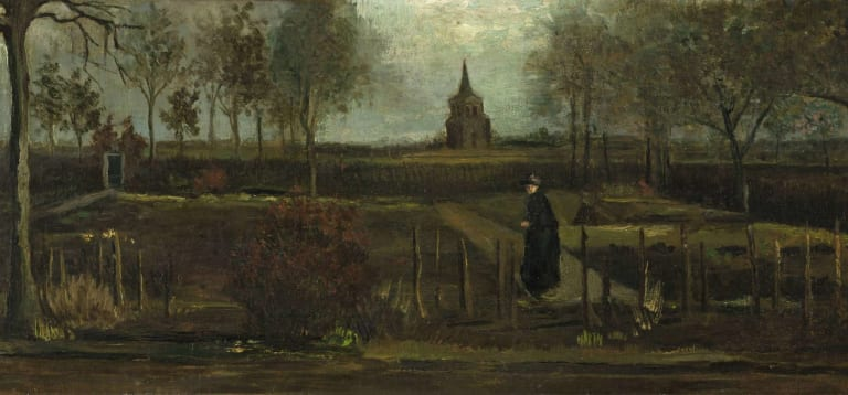 The Parsonage Garden at Nuenen or Spring Garden by Vincent van Gogh, stolen from the Singer Laren museum in March 2020.