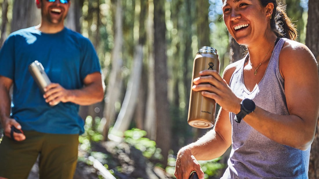 This is the perfect water bottle to take hiking and camping.