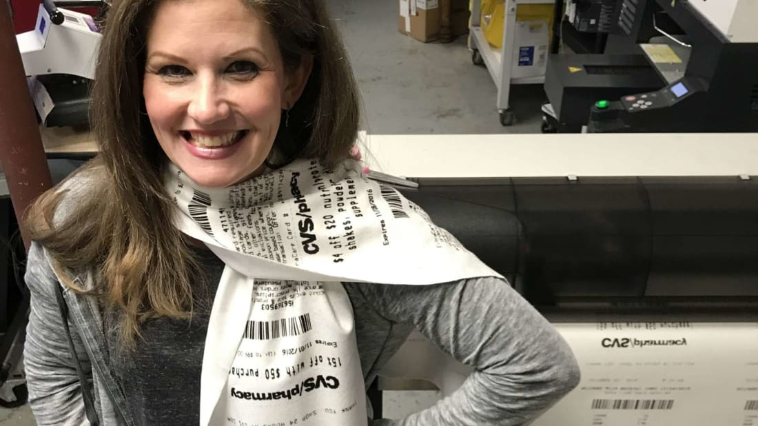 You Can Now Buy a Scarf Inspired by Those Preposterously Long CVS Receipts
