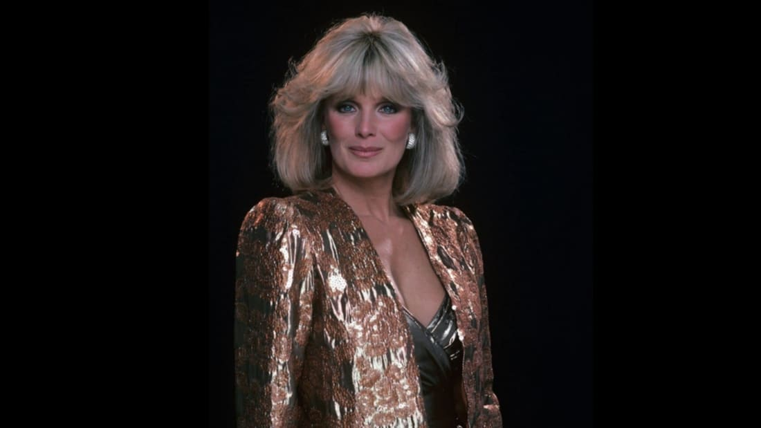 Linda Evans goes big in the shoulder department in Dynasty.