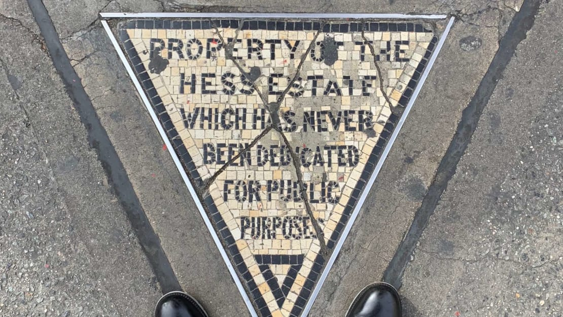 The Hess triangle, still spreading spite to this day.
