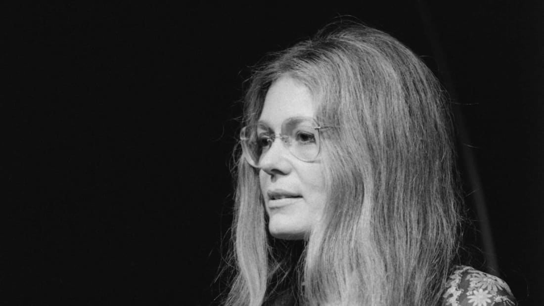 Gloria Steinem is the face of feminism and the reason it's cool to put your glasses on over your hair.