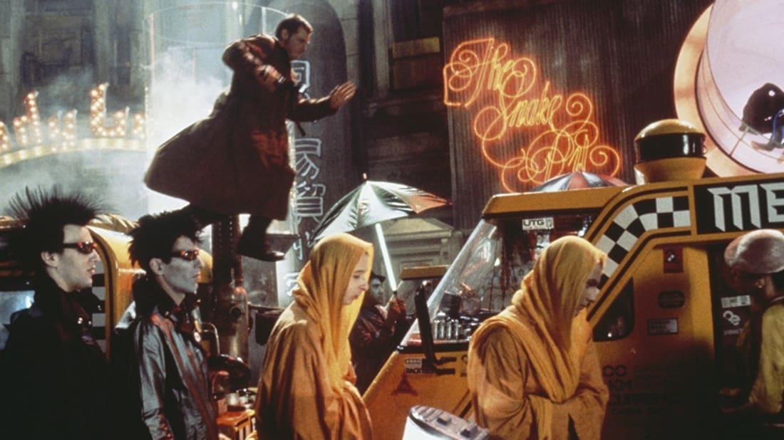 Harrison Ford stars in Ridley Scott's Blade Runner (1982).