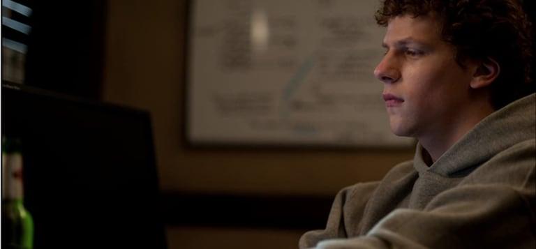 Jesse Eisenberg stars in David Fincher's The Social Network (2010).