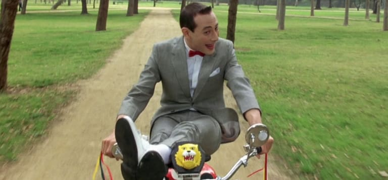 Paul Reubens in Pee-wee's Big Adventure (1985).