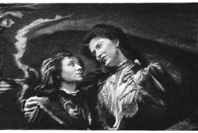 John La Farge's title illustration for The Turn of the Screw in Collier's Weekly, 1898.