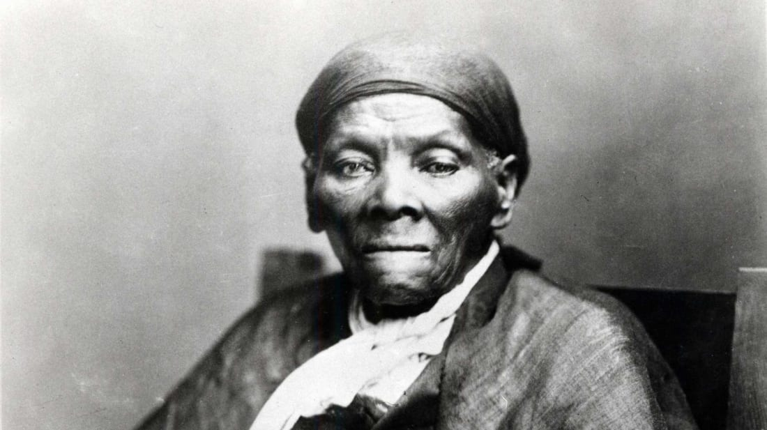 A portrait of Harriet Tubman, the legendary Underground Railroad conductor and Civil War nurse, scout, and spy