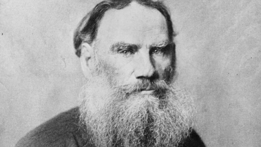 A portrait of 'War and Peace' author Leo Tolstoy, circa 1890.
