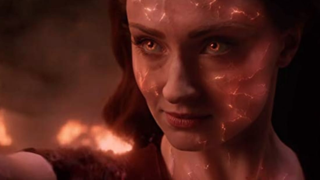 Sophie Turner stars in Dark Phoenix (2018).