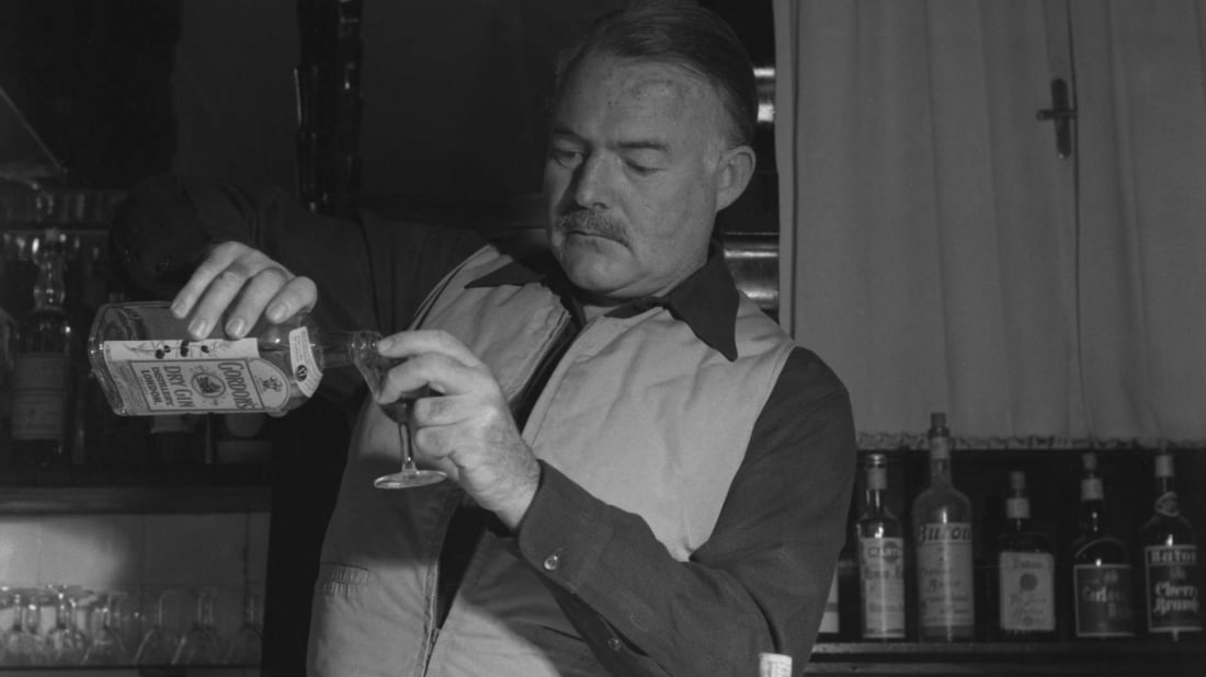 Ernest Hemingway looked even more natural with a drink in hand than a pen in hand.