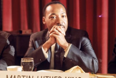 Martin Luther King Jr. in Los Angeles circa 1965.
