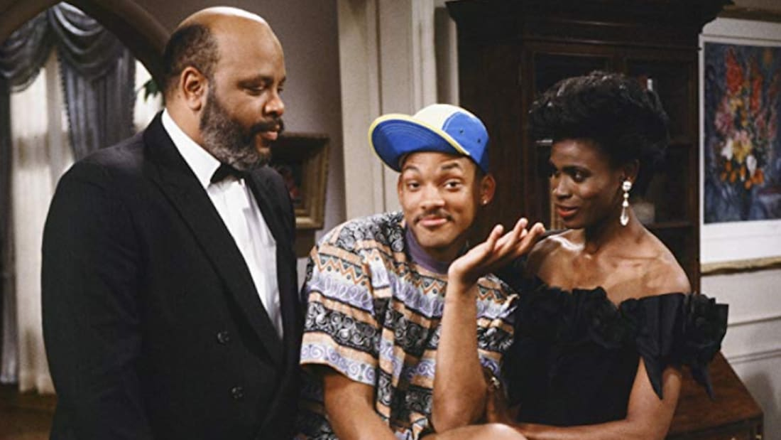 James Avery, Will Smith, and Janet Hubert in The Fresh Prince of Bel-Air.