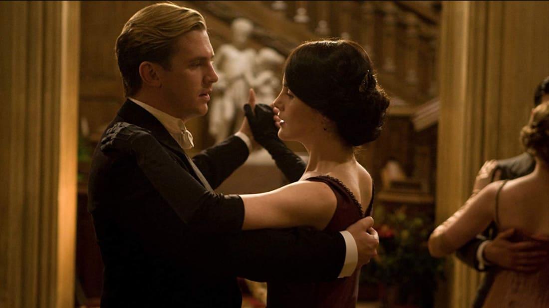 Dan Stevens and Michelle Dockery in Downton Abbey.