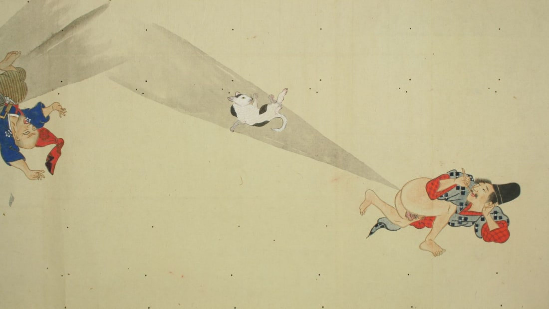 Not even cats were safe from being a part of the epic Japanese fart battles depicted in a series of art scrolls produced during the Edo period.