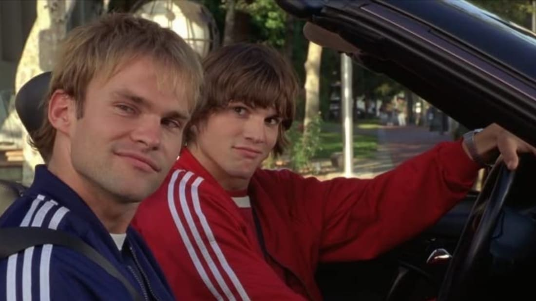 Seann William Scott and Ashton Kutcher star in Dude, Where's My Car? (2000).