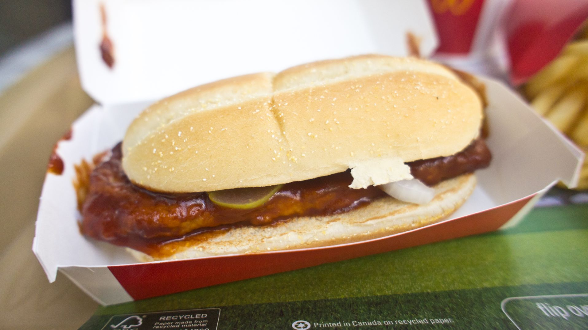 The Reason McDonald's Doesn't Sell McRib Sandwiches Year-Round