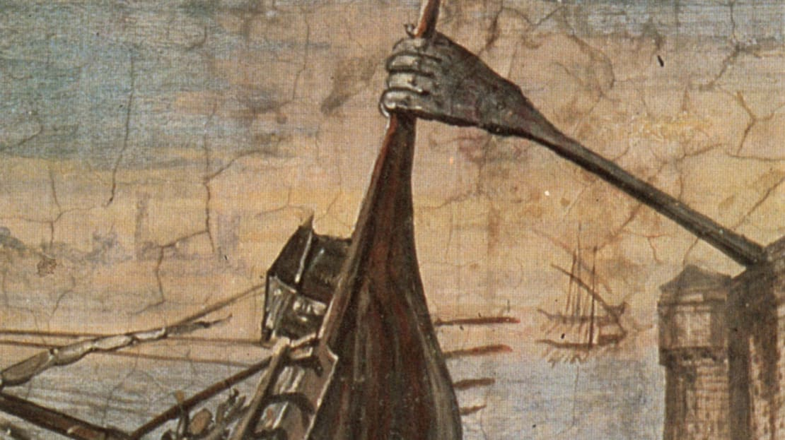 """The ancient Greek """"Claw of Archimedes,"""" as imagined by Renaissance architect Giulio Parigi."""
