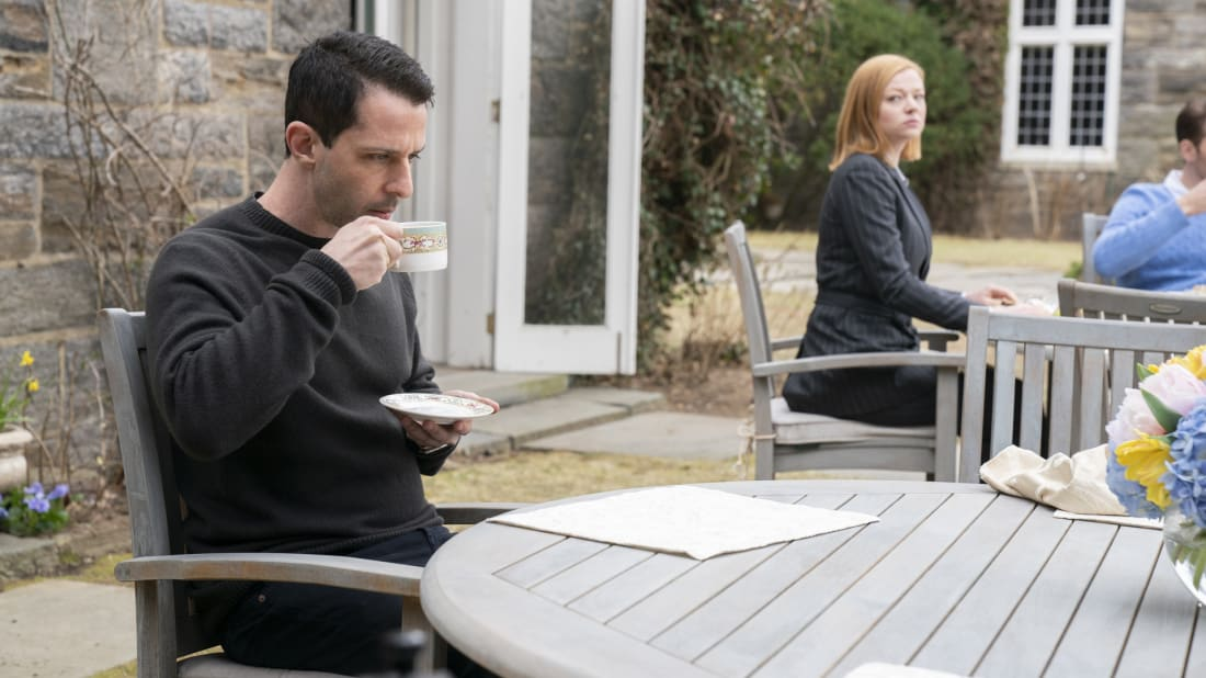 Jeremy Strong and Sarah Snook in Succession, season 2.