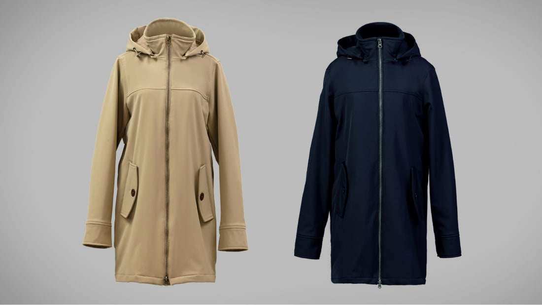 This trench coat is suited for three seasons.
