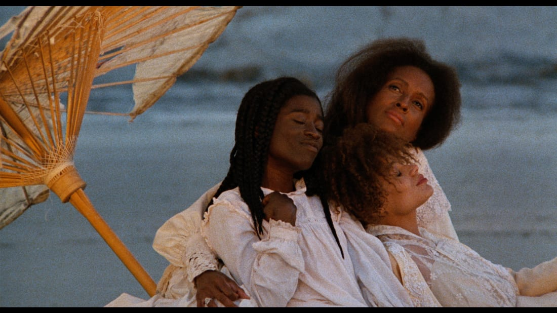 Alva Rogers, Barbara-O, and Trula Hoosier in Julie Dash's Daughters of the Dust (1991).