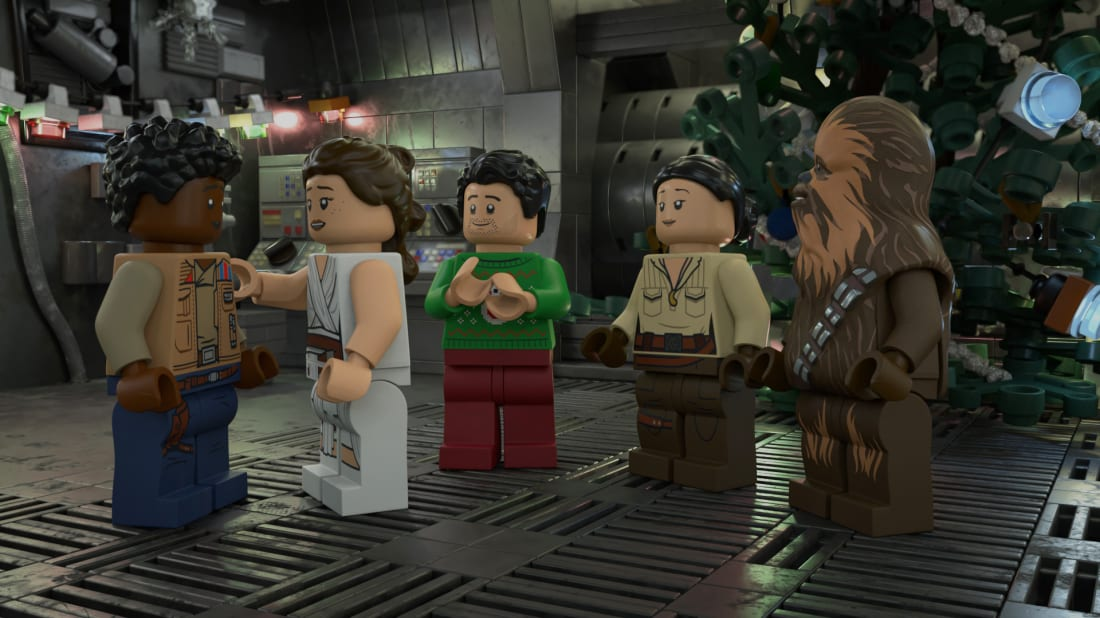 Rey and friends in the upcoming LEGO special.